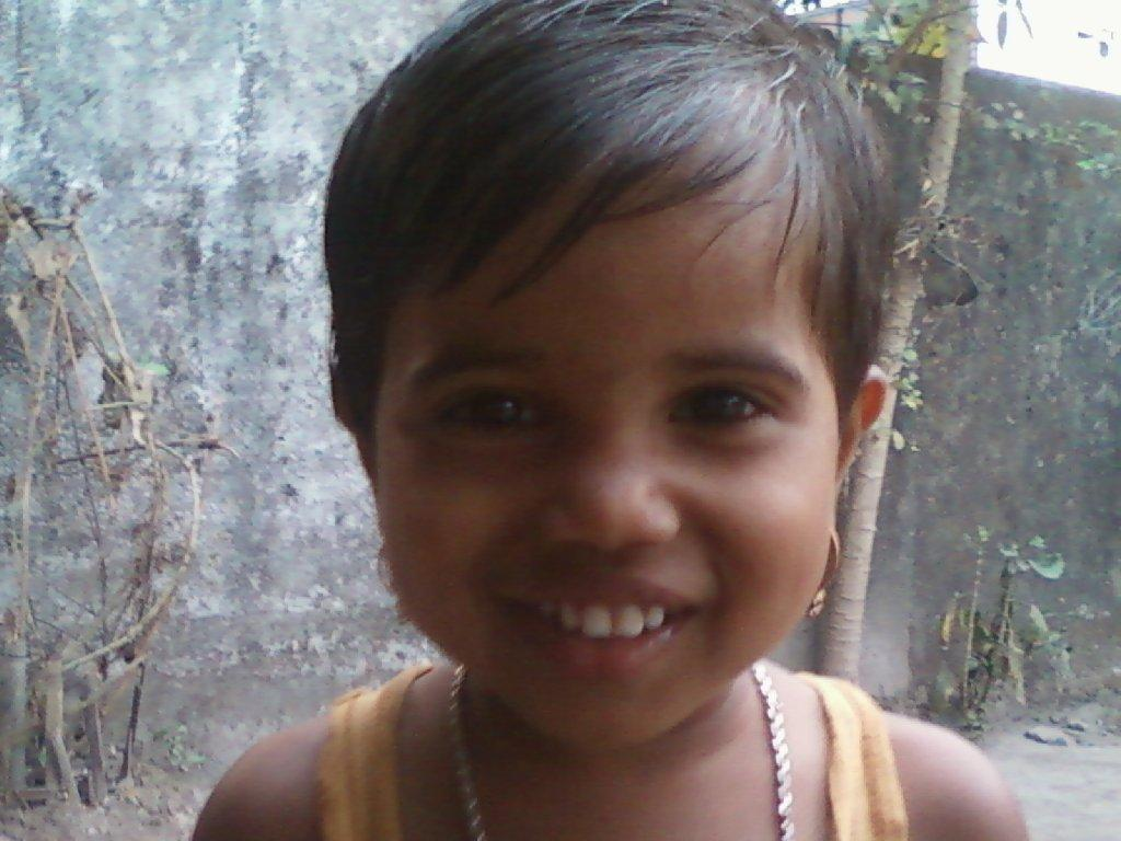 Young Indian child named Pepsi, about 3 years old.